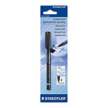 Buy Staedtler Lumocolor Laundry Marker Pen Online at johnlewis.com