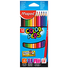Buy Helix Maped Colorpeps Pencils, Pack of 12, Multi Online at johnlewis.com
