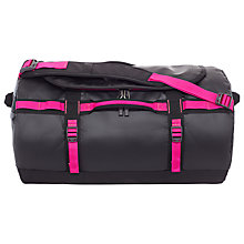 Buy The North Face Camp Duffel Bag, Small, Black/Super Pink Online at johnlewis.com