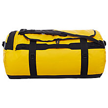 Buy The North Face Camp Duffel Bag, Large, Summit Gold/Black Online at johnlewis.com