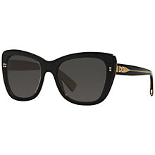 Buy Dolce & Gabbana DG4260 Cat's Eye Full Frame Sunglasses, Black Online at johnlewis.com