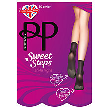 Buy Pretty Polly Sweet Steps Ankle Socks, Pair of 1, Black Online at johnlewis.com