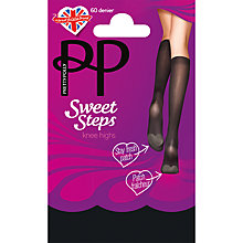 Buy Pretty Polly Sweet Steps Knee High Socks, Pack of 1, Black Online at johnlewis.com