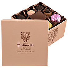 Buy Holdsworth Cube Chocolate Box, Pink, 200g Online at johnlewis.com