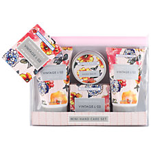 Buy Heathcote & Ivory Vintage Pattern & Petals Mini Hand Care Set Online at johnlewis.com