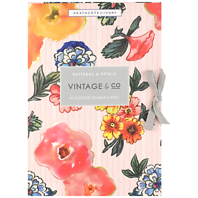 Image of Heathcote & Ivory Vintage Pattern & Petals Scented Drawer Liners, x 6