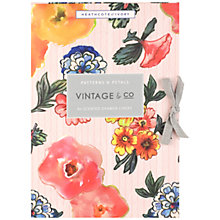 Buy Heathcote & Ivory Vintage Pattern & Petals Scented Drawer Liners, x 6 Online at johnlewis.com