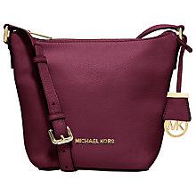 Buy MICHAEL Michael Kors Bedford Small Leather Messenger Bag, Merlot Online at johnlewis.com