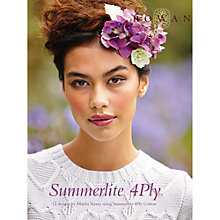 Buy Rowan Summerlite 4Ply by Martin Storey Knitting Pattern Book Online at johnlewis.com