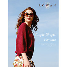 Buy Rowan Simple Shapes Panama by Sarah Hatton Knitting Pattern Book Online at johnlewis.com
