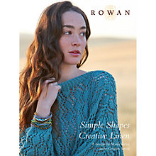 Buy Rowan Simple Shapes Creative Linen by Marie Wallin Knitting Pattern Book Online at johnlewis.com