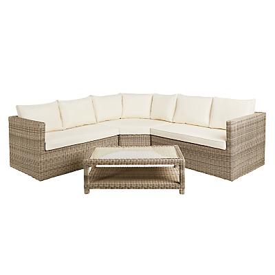 John Lewis Dante Corner Lounging Sofa With Table