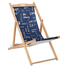 Buy John Lewis Coastal Script Deckchair Sling & House by John Lewis Deck Chair Frame Online at johnlewis.com