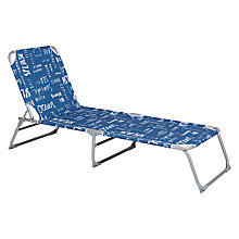 Buy John Lewis Coastal Blue Script Sun Lounger Online at johnlewis.com
