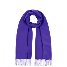 Buy Planet Plain Scarf, Mid Purple Online at johnlewis.com