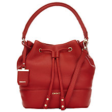 Buy DKNY Tribeca Leather Hobo Bag, Burnt Orange Online at johnlewis.com