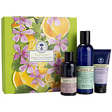 Buy Neal's Yard Remedies REFRESH Geranium & Orange Organic Collection Online at johnlewis.com