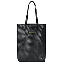 Buy Et DAY Birger et Mikkelsen Braided Leather Weave Tote Bag, Black Online at johnlewis.com