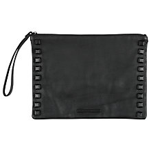Buy Et DAY Birger et Mikkelsen Tricken Leather Clutch Bag, Black Online at johnlewis.com