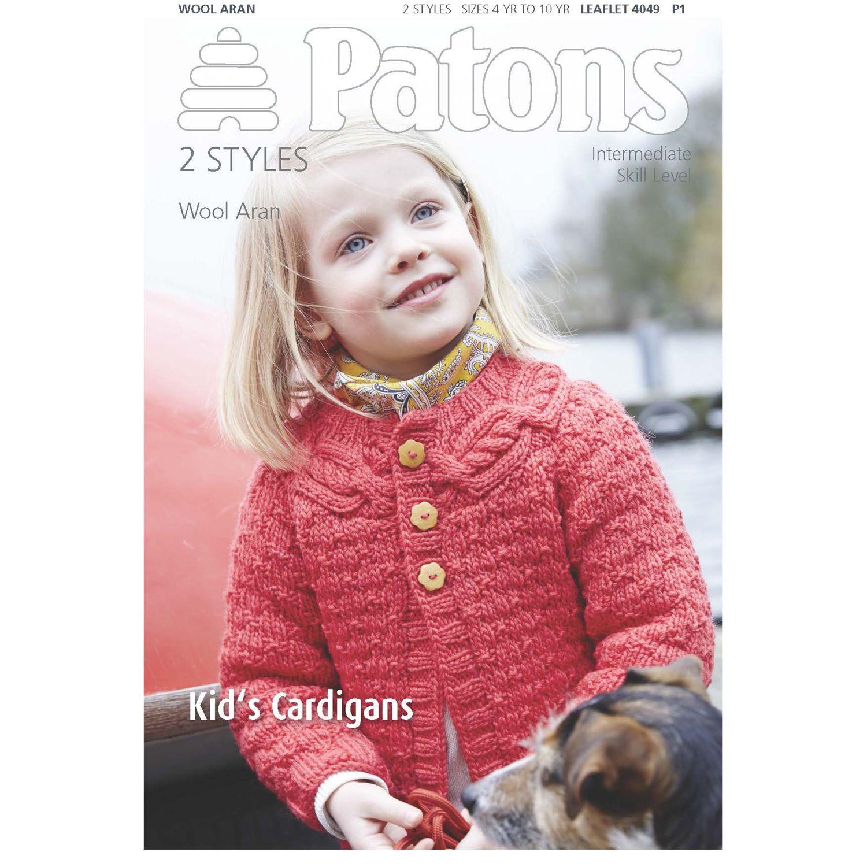 Patons Patons Wool Aran Children's Cardigan Knitting Pattern