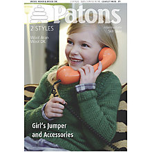Buy Patons Girls' Jumper, And Accessories Knitting Book Online at johnlewis.com