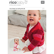 Buy Rico Baby So Soft Print DK Cardigan Knitting Pattern, 217 Online at johnlewis.com