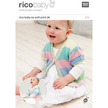 Buy Rico Baby So Soft Print DK Cardigan Knitting Pattern, 219 Online at johnlewis.com