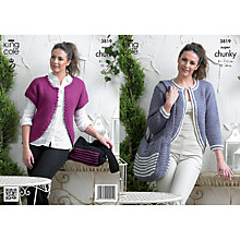 Buy King Cole Ladies' Cardigan And Bag Knitting Pattern, 3819 Online at johnlewis.com