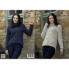 Buy King Cole Ladies' Sweater Knitting Pattern, 4035 Online at johnlewis.com