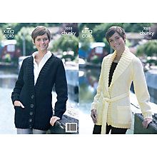 Buy King Cole Ladies' Cardigan Knitting Pattern, 3253 Online at johnlewis.com