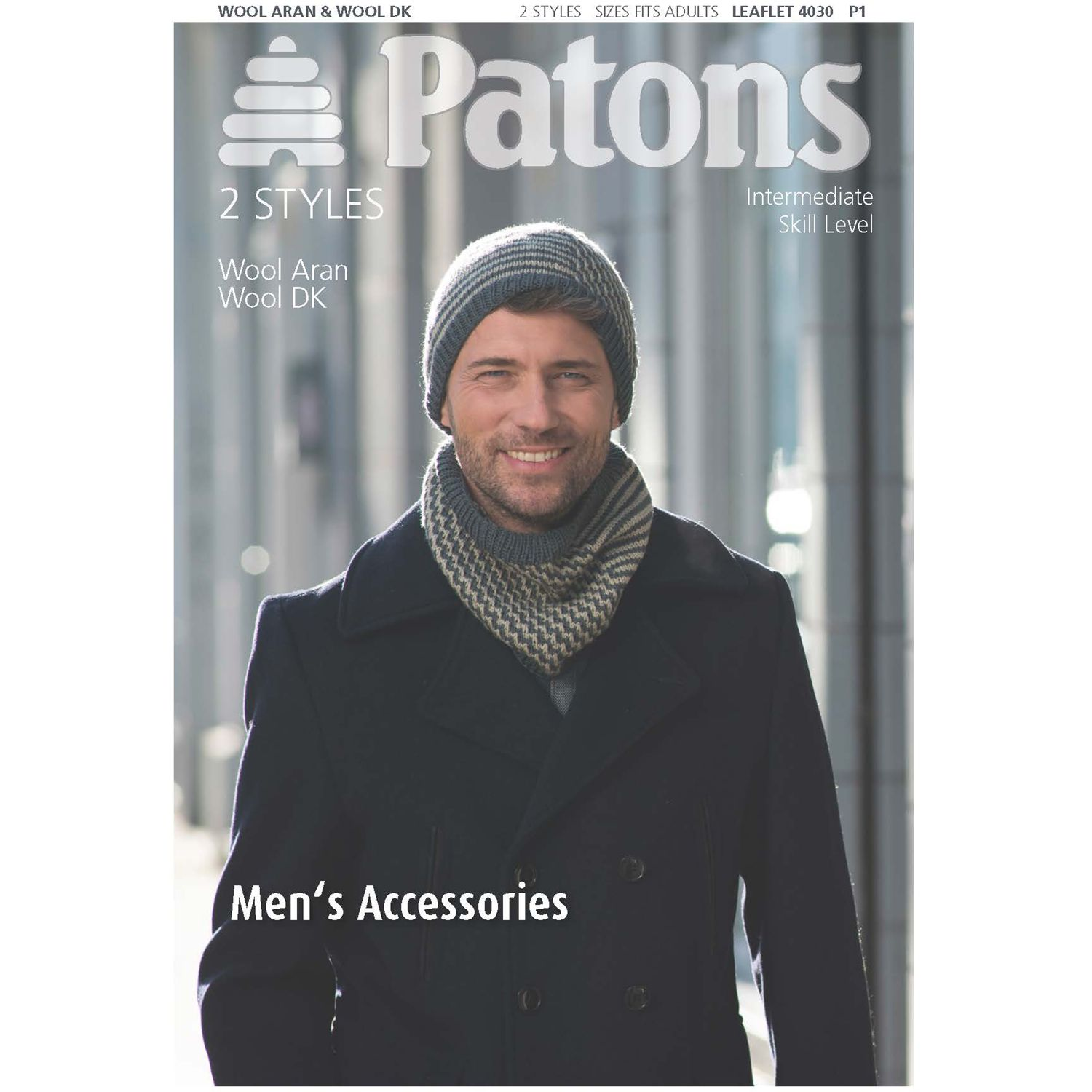 Patons Patons Men's Hat And Scarf Knitting Pattern