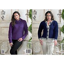Buy King Cole Ladies' Sweater And Cardigan Knitting Pattern, 3817 Online at johnlewis.com