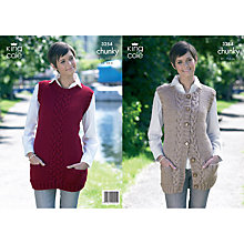 Buy King Cole Ladies' Jumpers Knitting Pattern, 3254 Online at johnlewis.com