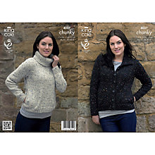 Buy King Cole Ladies' Jacket And Sweater Knitting Pattern, 4037 Online at johnlewis.com