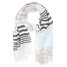 Buy Mint Velvet Printed Stripe Scarf, Blue Online at johnlewis.com