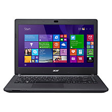 "Buy Acer Aspire ES1-411 Laptop, Intel Celeron, 2GB RAM, 500GB, 14"", Black Online at johnlewis.com"