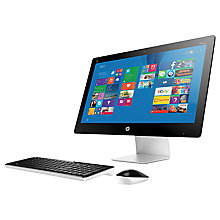 "Buy HP Pavilion 23-Q059NA All-in-One Desktop PC, Intel Core i5, 8GB RAM, 2TB, 23"", Full HD, Touch Screen, White Online at johnlewis.com"