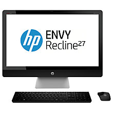 "Buy HP Envy Recline All-in-One 27-k475na, Intel i7, 12GB RAM, 2TB, 27"", Silver Online at johnlewis.com"