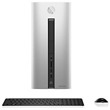 Buy HP Pavilion 550-075na Desktop PC, Intel Core i7, 12GB RAM, 2TB, Silver Online at johnlewis.com