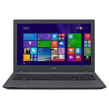 "Buy Acer Aspire E5-573T Laptop, Intel Core i3, 4GB RAM, 1TB, 15.6"" Touch Screen, Grey Online at johnlewis.com"