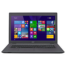 "Buy Acer Aspire E5-772 Laptop PC, Intel Core i3, 8GB, 1TB, 17.3"", Black Online at johnlewis.com"
