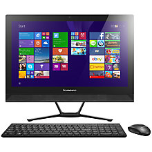 "Buy Lenovo C40 All-in-One Desktop PC, Intel Core i3, 8GB RAM, 1TB, 21.5"", Touch Screen, White Online at johnlewis.com"