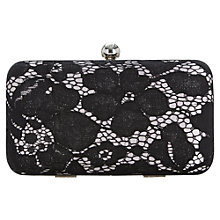 Buy Jacques Vert Lace Box Clutch Bag, Black Online at johnlewis.com