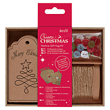 Buy Docrafts Create Christmas Festive Tag Kit, Pack of 8 Online at johnlewis.com