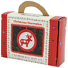 Buy Buttonbag Mini Deer Christmas Decoration Cross Stitch Kit Online at johnlewis.com