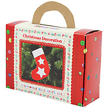 Buy Buttonbag Mini Christmas Stocking Felt Craft Kit Online at johnlewis.com
