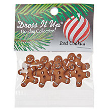 Buy Jesse James Iced Cookie Gingerbread Men Paper Toppers, Brown Online at johnlewis.com