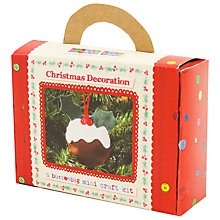 Buy Buttonbag Mini Christmas Pudding Decoration Felt Craft Kit Online at johnlewis.com