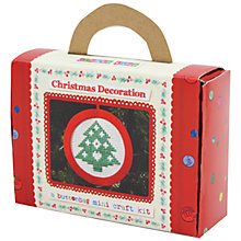 Buy Buttonbag Mini Christmas Tree Decoration Cross Stitch Kit Online at johnlewis.com