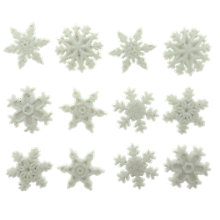 Buy Jesse James Glitter Snowflake Toppers, White Online at johnlewis.com